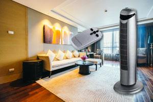 Ventilateur colonne avec télécommande